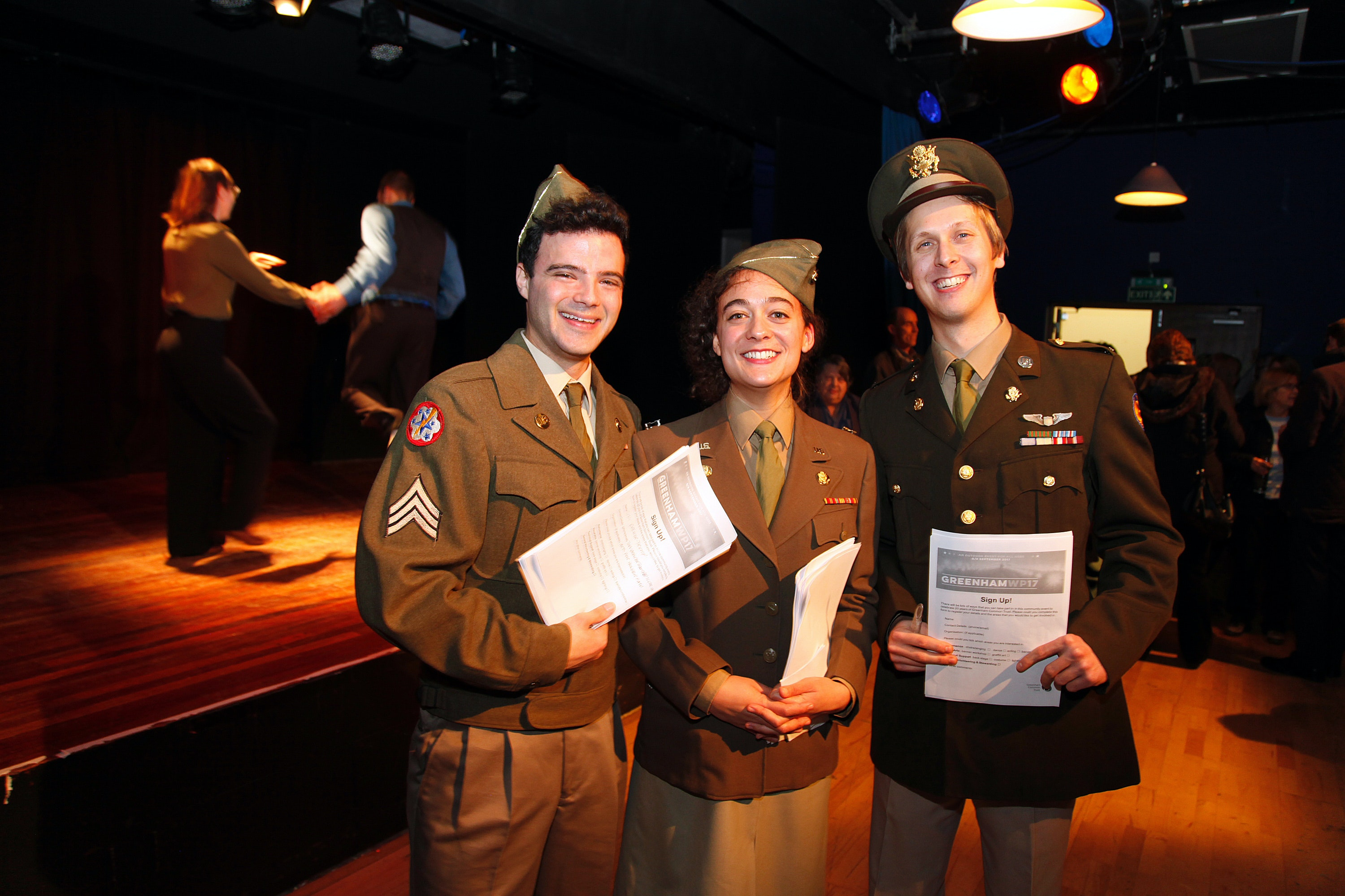Actors recreate USAF officers on base for the community launch