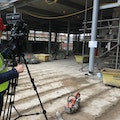 Filming for construction project management course at NTU - on location at Newark new council offices