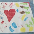 The Castle School in Newbury created this fantastic picture to show us all how much they love Greenham Common.
