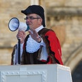 BBC Radio Lincolnshire presenter Melvyn Prior embedded in the cast!  As Mayor of Lincoln