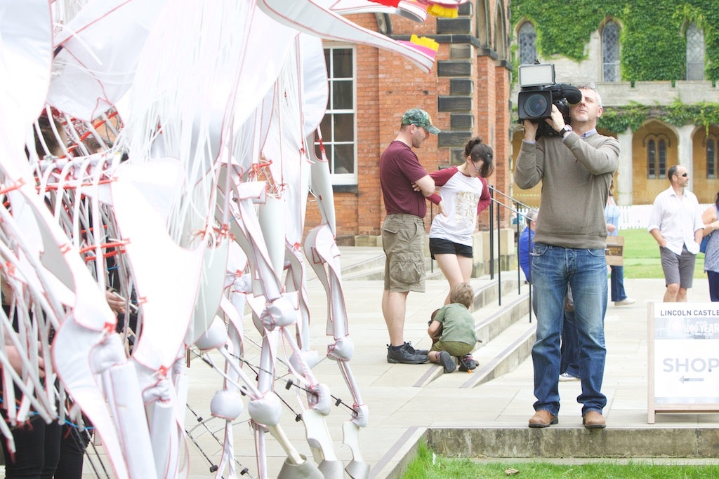 Filming of processions
